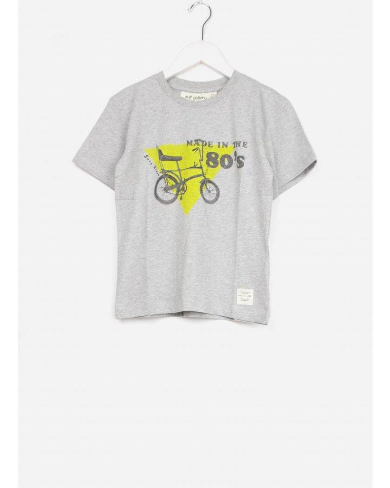 Soft Gallery asger t-shirt light grey melange chopper