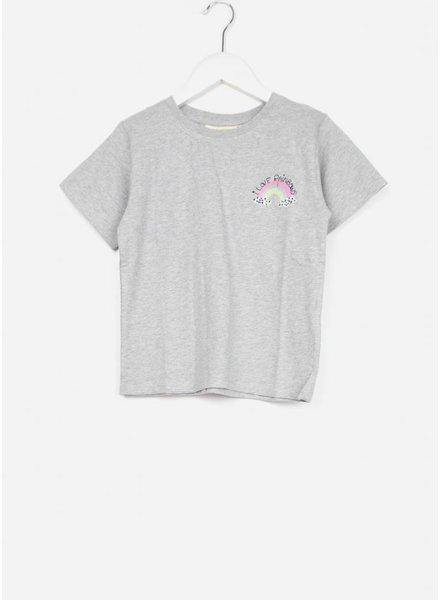Soft Gallery shirt dominique light grey mel rainbow mini
