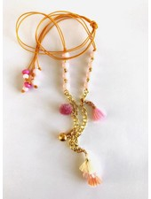 ByMelo ketting goud roze