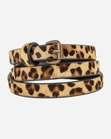 By Bar julie hair belt brown luipaard