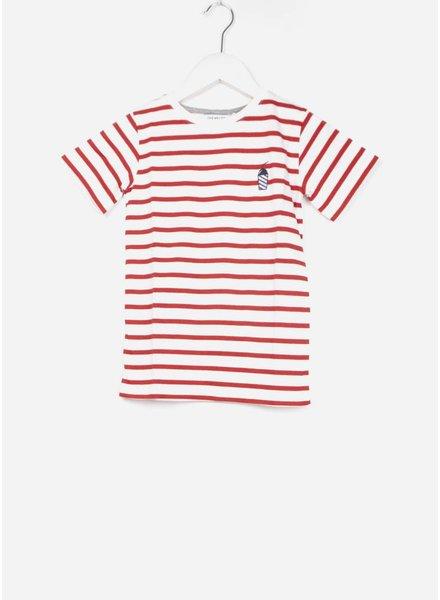 One we Like shirt stripes milkshake marshmallow/true red