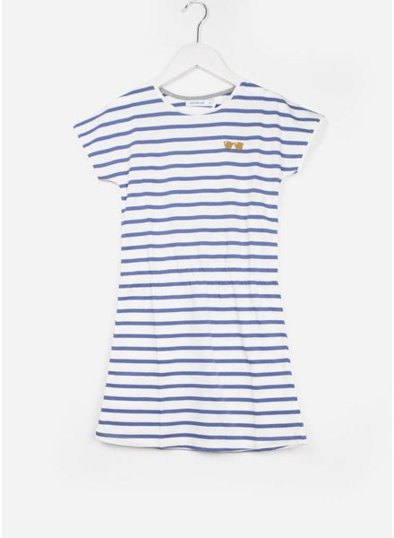 One we Like jurk pop stripes glasses marshmallow/dark blue