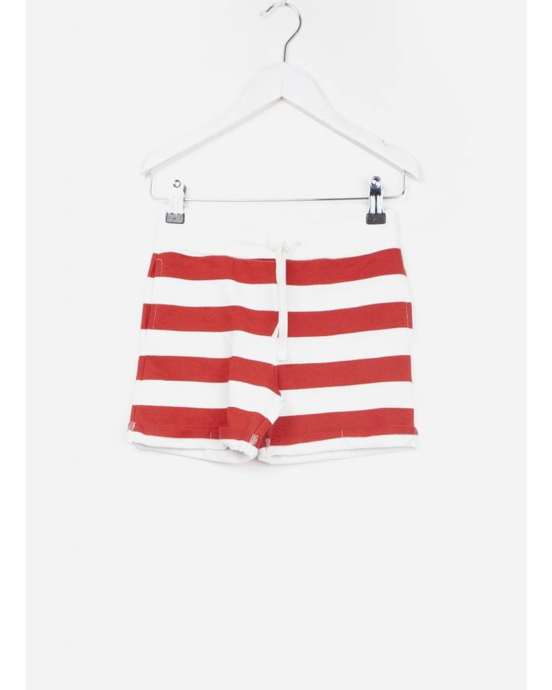 One we Like shorts stripes marshmallow/true red