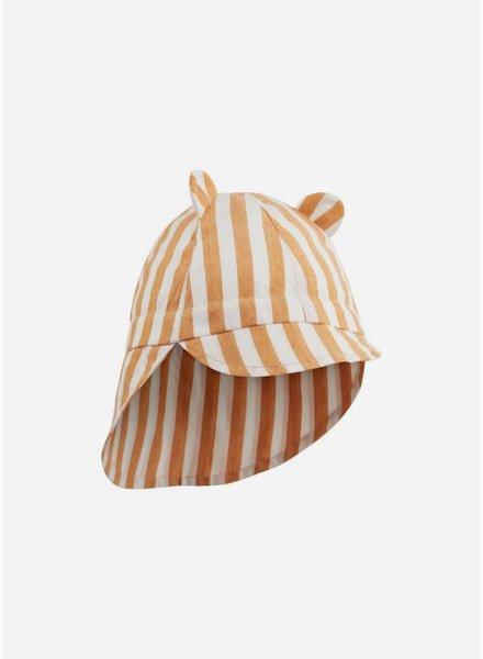Liewood gorm sun hat stripe mustard/creme