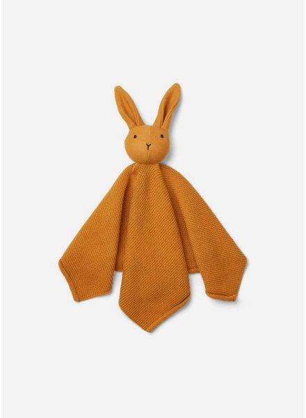 Liewood milo knit cuddle cloth rabbit mustard