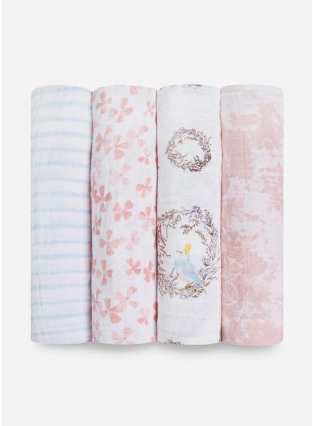Aden and Anais swaddle roze blauw