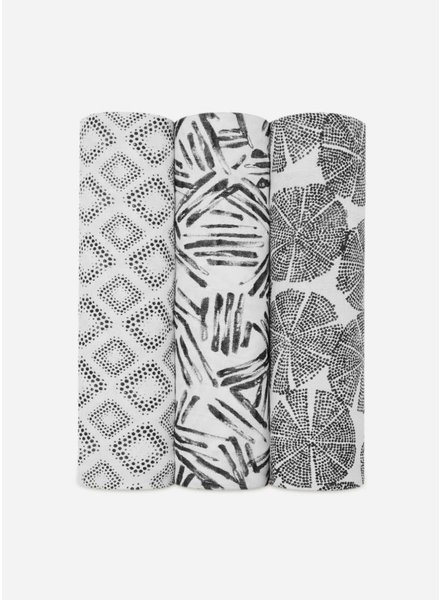 Aden and Anais swaddle zwart wit