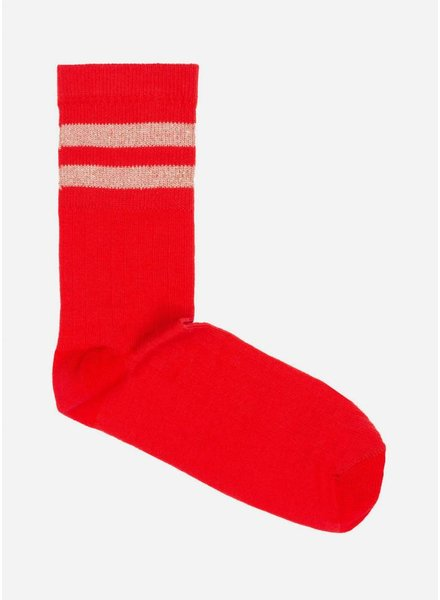 By Bar sparkle sock salsa red