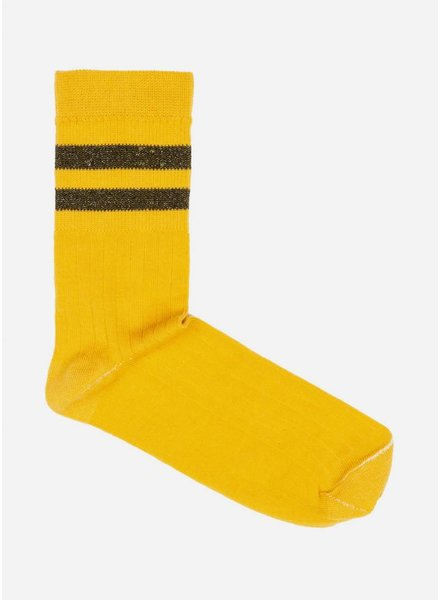 By Bar sparkle sock crown yellow