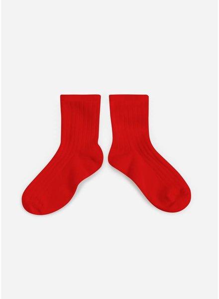Collegien sokken vrai rouge