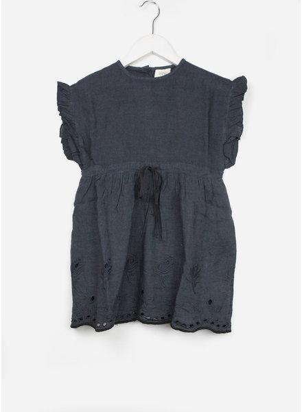 Buho jurk gina linen embroidery nuit
