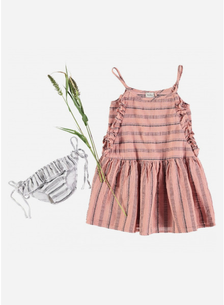 Buho jurk creta beach stripes dress