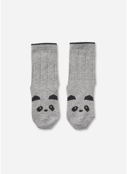 Liewood silas socks 2 pack panda grey