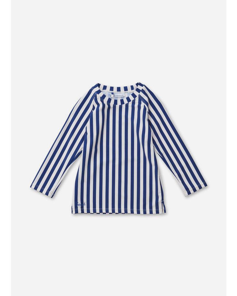 Liewood noah swim tee stripe navy