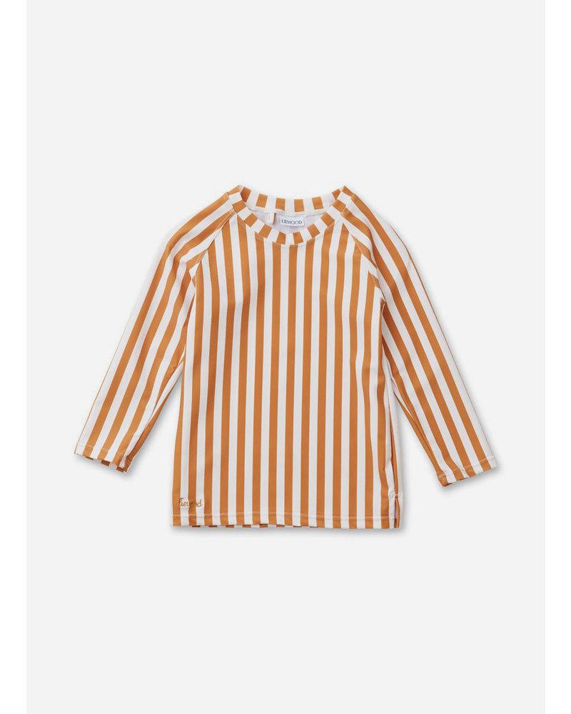 Liewood noah swim tee stripe mustard