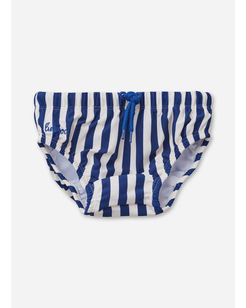 Liewood frej baby boy swim pants stripe navy