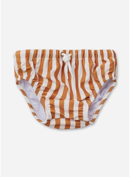 Liewood frej baby boy swim pants stripe mustard