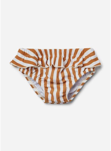 Liewood elise baby girl swim pants stripe mustard