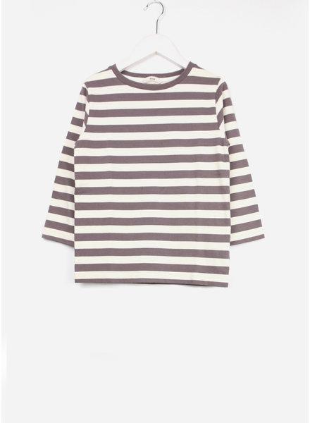 Fith shirt striped sleeve purple