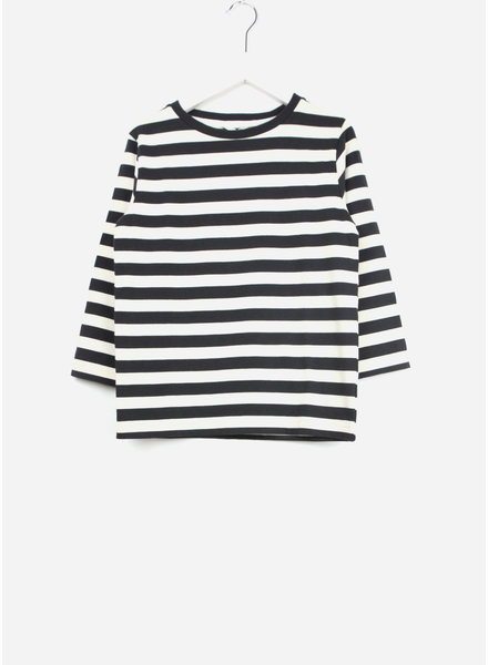 Fith shirt striped sleeve black