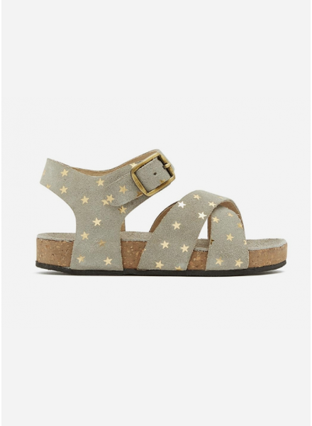 Bonton sandals crossed stars