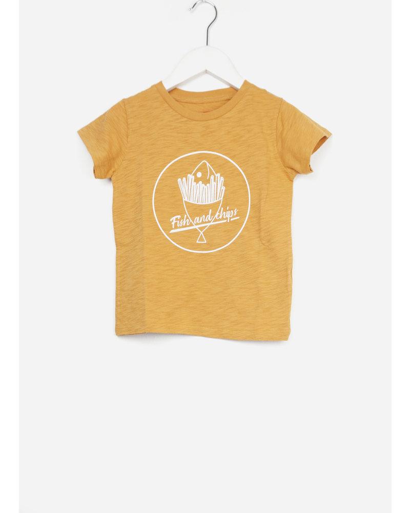 Bonton t-shirt fish moutarde