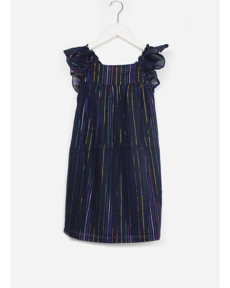 Bonton dress with stripes rayure lu