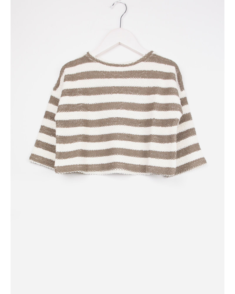 Play Up striped fleece sweater