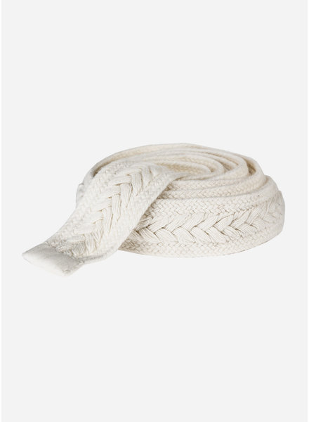 By Bar girls braided belt off white