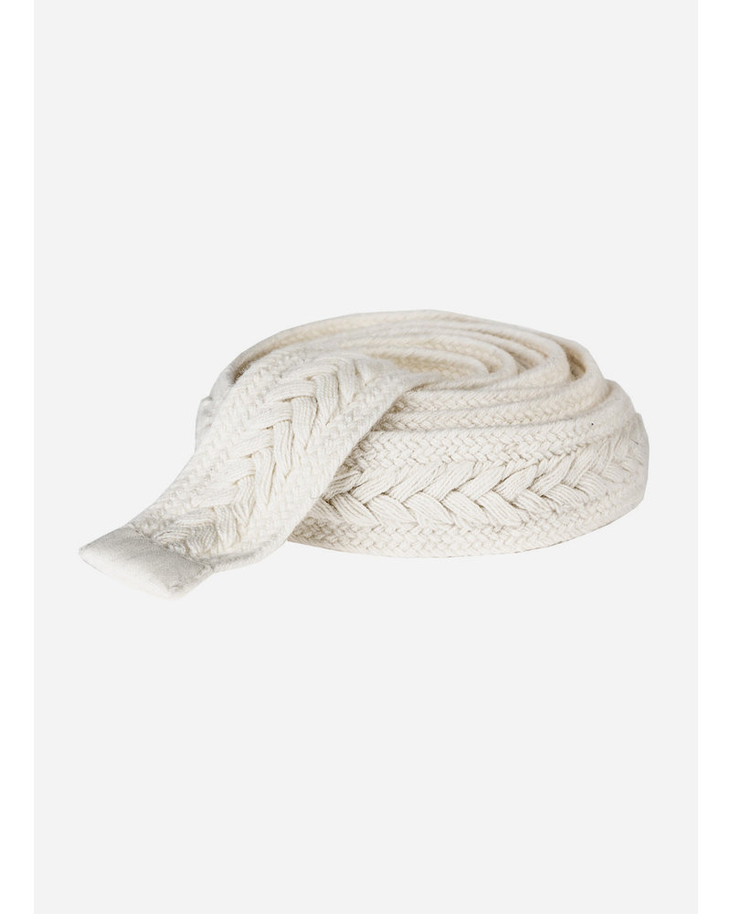 By Bar girls braided belt off white