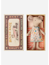 Maileg big sister mouse in a box, flowerdress