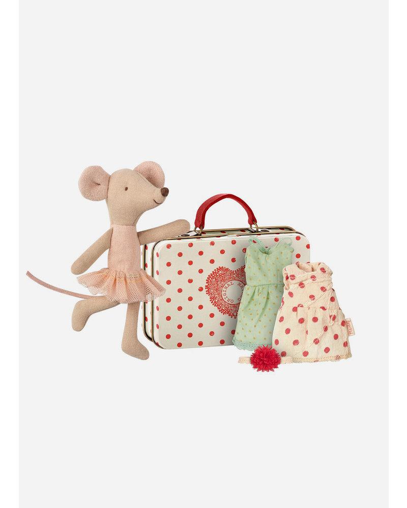 Maileg ballerina mouse, 2 dresses
