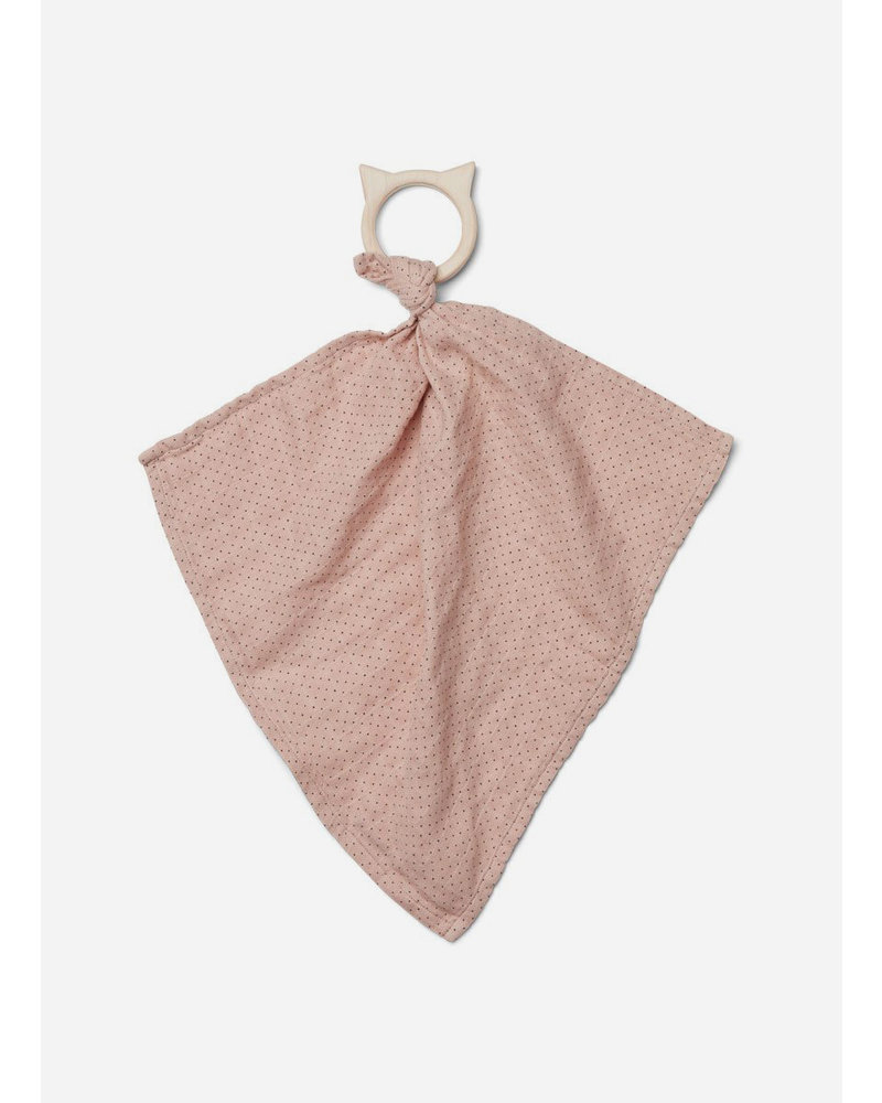 Liewood dines teether cuddle cloth dot rose
