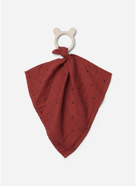Liewood dines teether cuddle cloth dot rusty