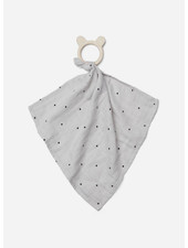 Liewood dines teether cuddle cloth dot dumbo grey