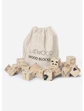 Liewood wood blocks natural