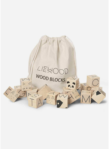 Liewood wood blocks natural