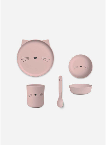Liewood bamboo set cat rose