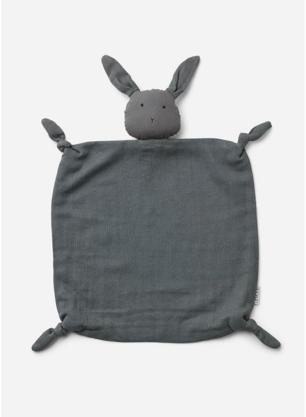 Liewood agnete cuddle cloth rabbit stone grey