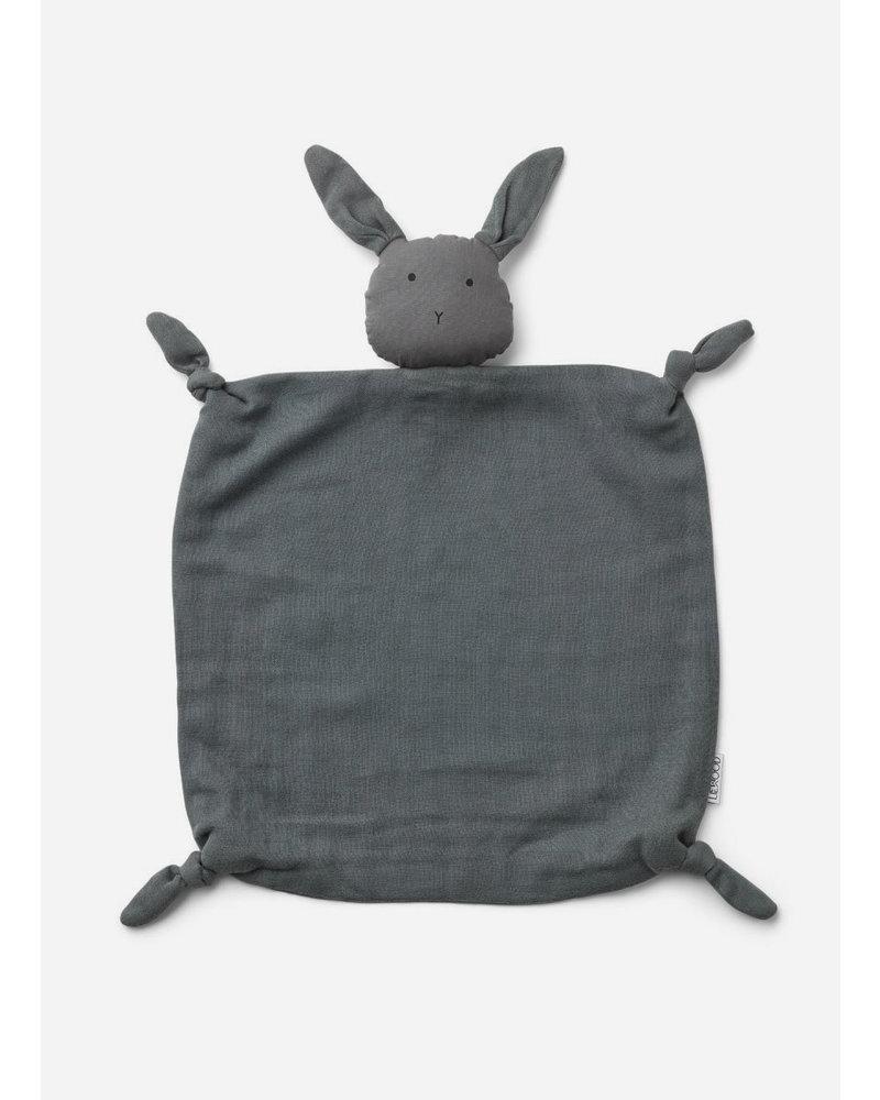 Liewood agnete cuddle cloth rabbit stone grey