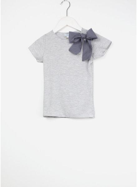 Club Cinq tremezzo bow short sleeve grey melee