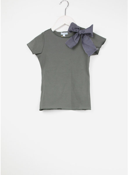 Club Cinq tremezzo bow short sleeve green