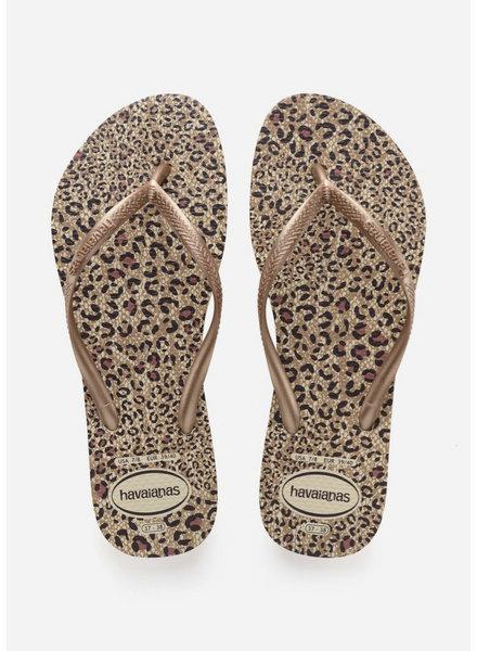 Havaianas flip flop slim animals beige/rose