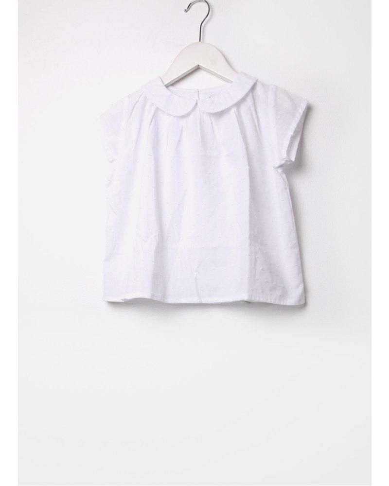 Club Cinq blouse casablanca white dots