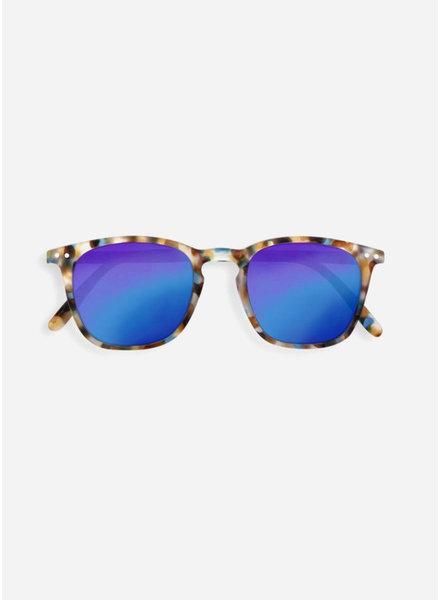 Izipizi sun #E blue tortoise - blue mirror lenses