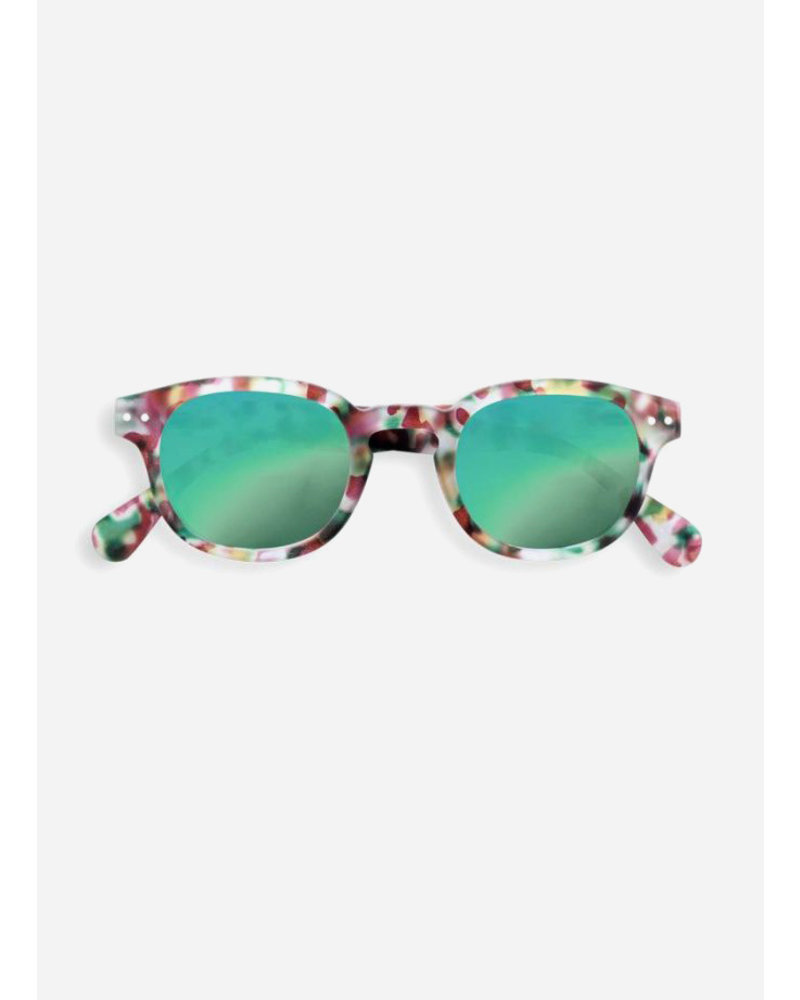 Izipizi sun #C green tortoise - green mirror lenses