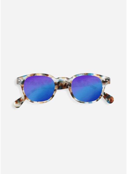 Izipizi sun #C blue tortoise - blue mirror lenses