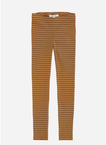 Soft Gallery paula leggings, inca gold, aop double ribbon