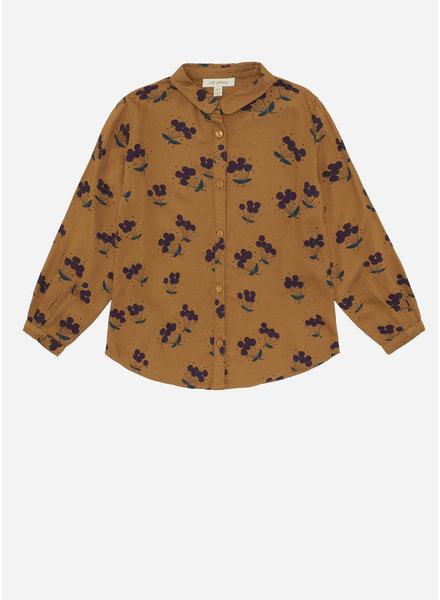 Soft Gallery jenna shirt, inca gold, aop berries small
