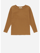 Soft Gallery emmanual t-shirt, inca gold, aop double ribbon